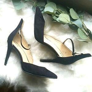 Black MIA Ankle Strap Pump Heels